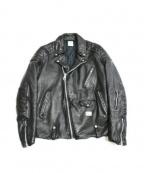 BEDWIN(ベドウィン)の古着「DOUBLE RIDERS JKT」 ブラック