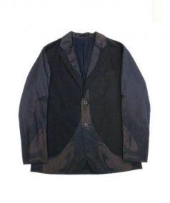 ISSEY MIYAKE MEN(イッセイ ミヤケ メン)の古着「ドッキングジャケット」|ブラック