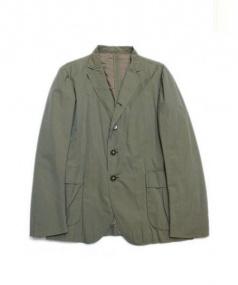 TOMORROW LAND(トゥモローランド)の古着「シルク混紡アンコンジャケット」|オリーブ