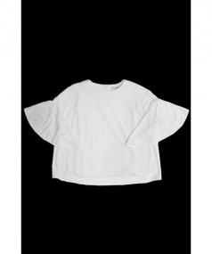 ADORE(アドーア)の古着「ドライポンチフレアスリーブカットソー」|ホワイト
