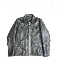 NEIGHBORHOOD(ネイバーフッド)の古着「ゴートスキンレザージャケット」|ブラック