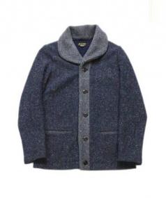 JELADO(ジェラード)の古着「ショールカラーウールジャケット」|ネイビー×グレー