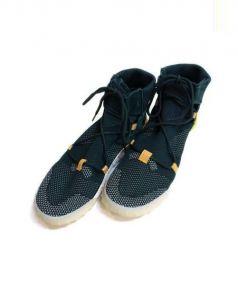 adidas(アディダス)の古着「ハイカットスニーカー」 カーキ×ホワイト