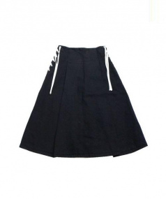 OPENING CEREMONY(オープニングセレモニー)の古着「レースアップロングスカート」|ブラック