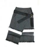 AKANE UTSUNOMIYA(アカネ ウツノミヤ)の古着「ラップスカート」|ブラック