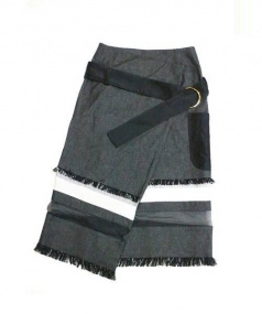 AKANE UTSUNOMIYA(アカネウツノミヤ)の古着「ラップスカート」|ブラック