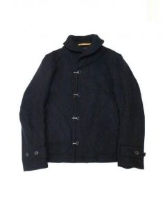 Scye(サイ)の古着「スーパーメルトンデッキジャケット」|ブラック