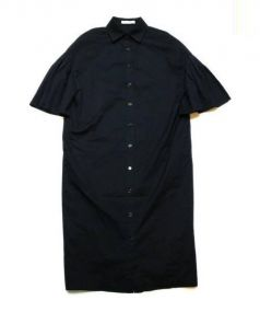 ADORE(アドーア)の古着「コットンナイロンシャツワンピース」|ネイビー