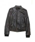 SANTACROCE(サンタクローチェ)の古着「ラムレザージャケット」|ブラック