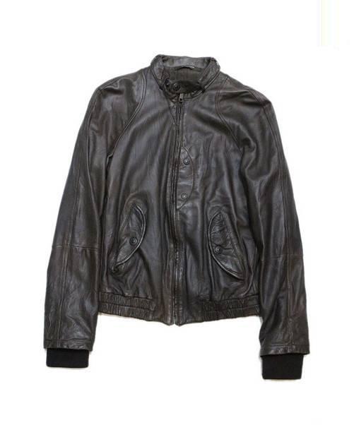 SANTACROCE SANTACROCE (サンタクローチェ) ラムレザージャケット ブラック サイズ:XS ?