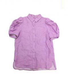 MYLAN(マイラン)の古着「シャーリングパフスリーブS/Sシャツ」|パープル