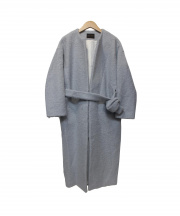 TOMORROW LAND collection(トゥモローランドコレクション)の古着「アルパカウールノーカラーコート」|ブルー