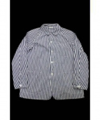 COMOLI(コモリ)の古着「シャツジャケット」 ネイビー×ホワイト