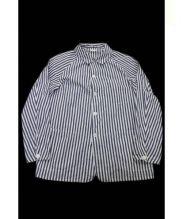 COMOLI(コモリ)の古着「シャツジャケット」|ネイビー×ホワイト