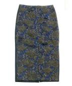 N°21(ヌメロ ヴェントゥーノ)の古着「レーススカート」 ゴールド×ネイビー