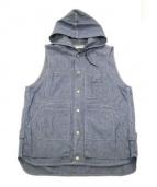 SASSAFRAS(ササフラス)の古着「Tree Chopper Bud Vest」|ブルー