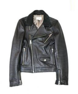 H&M Edition(エイチアンドエムエディション)の古着「ダブルライダースジャケット」 ブラック