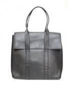 3.1 phillip lim(スリーワン・フィリップ・リム)の古着「フラップレザートートバッグ」|ブラック