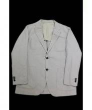 MARGARET HOWELL(マーガレットハウエル)の古着「リネン混テーラードジャケット」|ベージュ