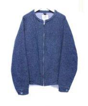bukht(ブフト)の古着「ノーカラーブルゾン」|グレー