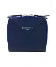 BALENCIAGA(バレンシアガ)の古着「2つ折り財布」 ネイビー