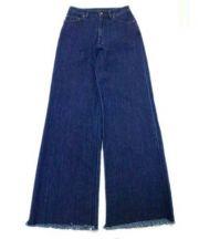 MAISON DE REEFUR(メゾン ド リーファー)の古着「カットオフワイドデニムパンツ」 ブルー