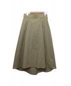 VONDEL(フォンデル)の古着「Aラインスカート」|ベージュ