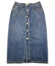 Moname(モナーム)の古着「デニムタイトスカート」 インディゴ