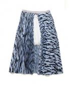 sacai luck(サカイ ラック)の古着「プリーツレイヤードスカート」|スカイブルー