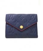 LOUIS VUITTON(ルイ・ヴィトン)の古着「3つ折り財布」|ネイビー(マリーヌルージュ)