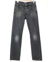 BALENCIAGA(バレンシアガ)の古着「デストロイドヘム5ポケットジーンズ」|ブラック