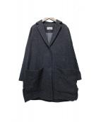 BLACK by moussy(ブラック バイ マウジー)の古着「Wool dolman short coat」|グレー