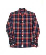 DESCENDANT(ディセンダント)の古着「ネルシャツ」|レッド×ブルー