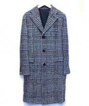 TAGLIATORE(タリアトーレ)の古着「チェスターコート」|ブラック×ホワイト