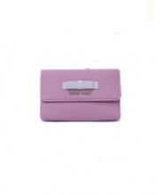 MIU MIU(ミュウミュウ)の古着「3つ折り財布」|ピンク