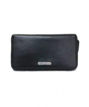 Saint Laurent Paris(サンローランパリ)の古着「ラウンドファスナー財布」|ブラック