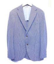 Paul Stuart(ポール スチュアート)の古着「テーラードジャケット」 ホワイト×ブラック