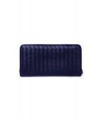 BOTTEGA VENETA(ボッテガベネタ)の古着「ラウンドファスナー財布」|ネイビー
