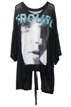 DIESEL(ディーゼル)の古着「プリントカットソー」|ブラック