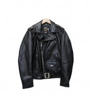 Schott(ショット)の古着「4STAR ライダースジャケット」|ブラック