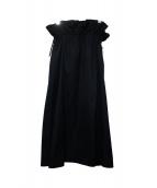 ADORE(アドーア)の古着「プリモコットンギャザースカート」|ネイビー