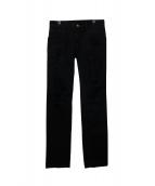 DOLCE & GABBANA(ドルチェアンドガッバーナ)の古着「ダメージデニムパンツ」|ブラック
