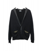 kolor/BEACON(カラービーコン)の古着「切替ニットカーディガン」|ブラック×グレー