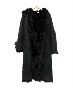 Calvin Klein(カルバンクライン)の古着「ムートンコート」|ブラック
