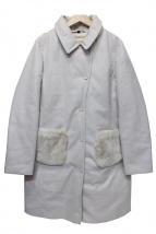()の古着「カシミヤ混ダウンコート」|ピンク