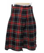 ONEIL OF DUBLIN(オニール オブ ダブリン)の古着「ラップスカート」 レッド×グリーン