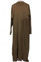 ELENDEEK(エレンディーク)の古着「CREW NECK FLARE KTOP」|ベージュ