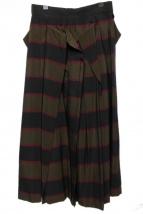 UN3D.(アンスリード)の古着「ボーダーオリガミスカート」