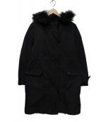 icB(アイジービー)の古着「ダウンライナー付コート」 ブラック