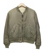 FREAKS STORE(フリークスストア)の古着「リバーシブルボアMA-1ジャケット」|カーキ
